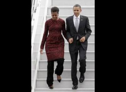 Michelle and Barrack Obama
